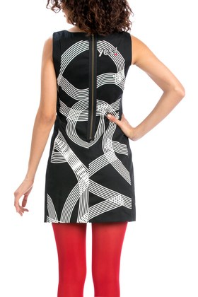 Back of Desigual LAILA dress. $185.95. Fall-Winter 2015.