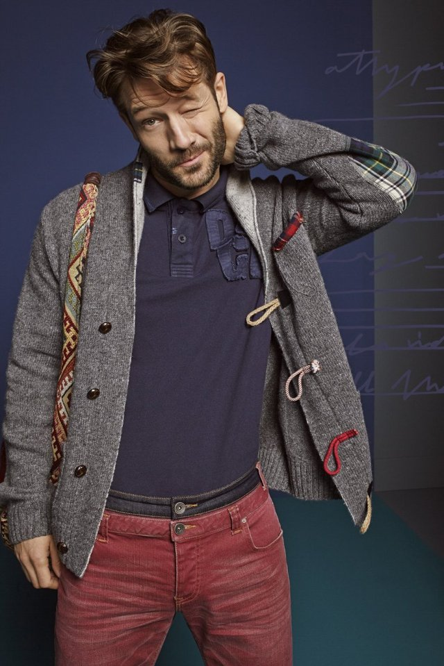 Desigual MARTIN grey cardigan sweater for men. $199.95. Fall-Winter 2015.
