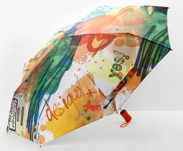 Desigual PAINTER umbrella. $49.95. We have two styles of umbrellas, which automatically open at close with the push of a button.