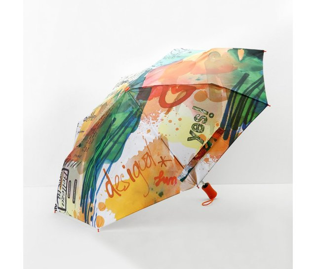 Desigual PAINTER umbrella. $49.95. We have three styles of umbrellas, which automatically open at close with the push of a button.