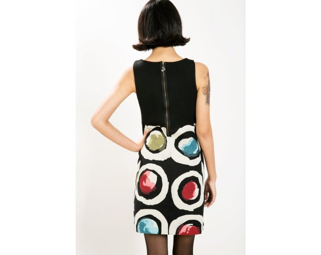 Back of Desigual PETITE CAPRICE dress designed by Christian Lacroix. $179.95. Fall-Winter 2015.