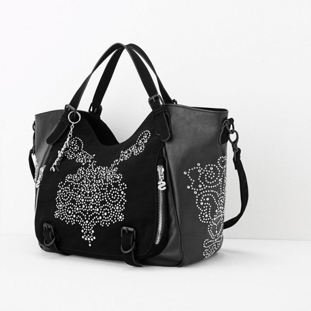 Desigual ROTTERDAM BLONDIE bag. $135.95. It Soft faux leather hobo bag with micro studs. It measures 26 x 15 x 30 cm and has 2 exterior and 3 internal pockets.