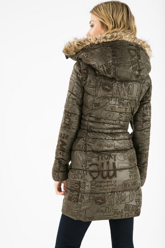 Back of Desigual SHAILA winter coat. $264.95. Fall-Winter 2015.