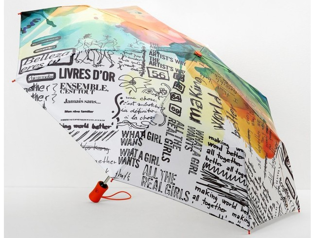 Desigual PAINTER umbrella. $49.95. We have three styles of umbrellas but only have 10. Once they're gone, we cannot order any more because they are sold out worldwide. then they're gone