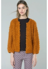 Compañía Fantástica VALERIE brown knit jacket. $76.