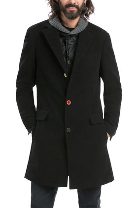 Desigual WINNER overcoat with zip-out quilted front and knitted collar. Was $365. Now on sale for $238 (35% off). Winter 2015 collection for men,