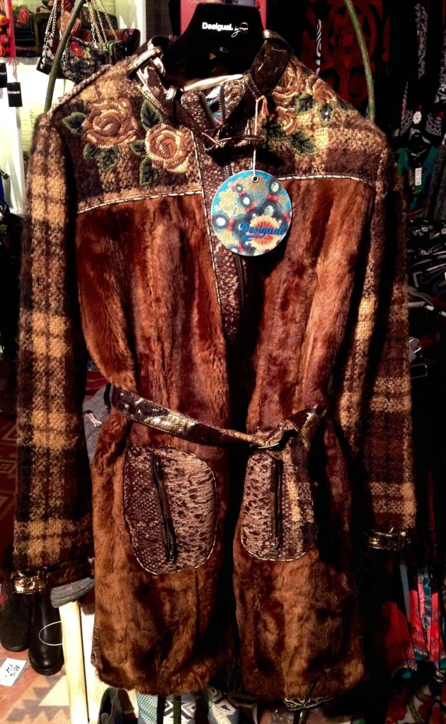 Desigual ASHA coat with faux fur. Was $464, now 30% off. Sizes 42 & 44 only