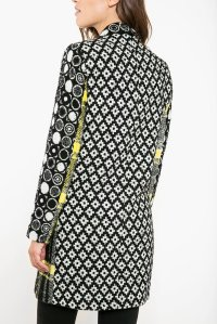 Back of Desigual SWEET EMOTION coat by Christian Lacroix. Regularly $365.95. Now on sale at 30% off ($256).