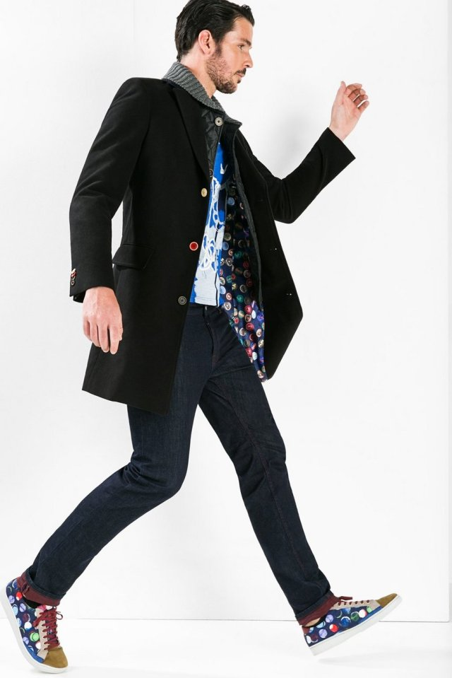 Desigual WINNER overcoat with zip-out quilted front and knitted collar. Was $365. Now on sale for $238 (35% off).