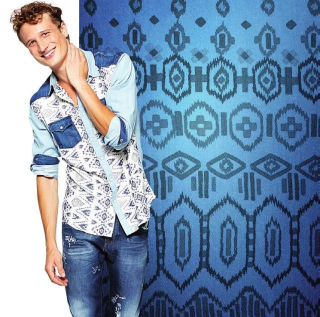 Desigual DALLAS shirt. $159.95. A combination of indigo and denim fabrics.100% cotton. Slim fit. Spring-Summer 2016.