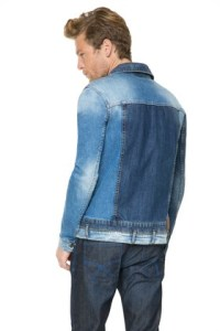 Back of Desigual jean jacket for men. Spring-Summer 2016. A mix of old and new denim.