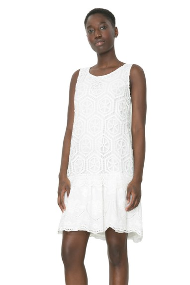 Desigual LUCIA white lace dress by Lacroix. $169.95. Spring 2016.
