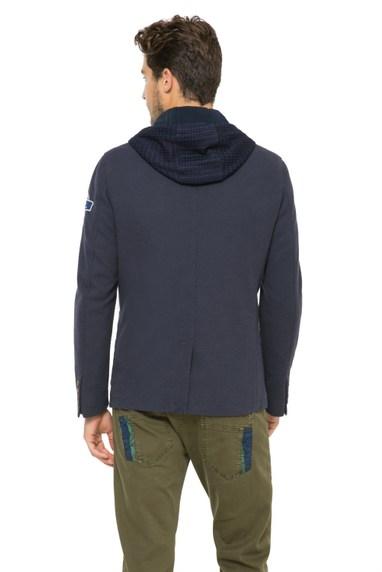 Desigual ADRIEN cotton blazer with hoodie. $239.95. Spring-Summer 2016.