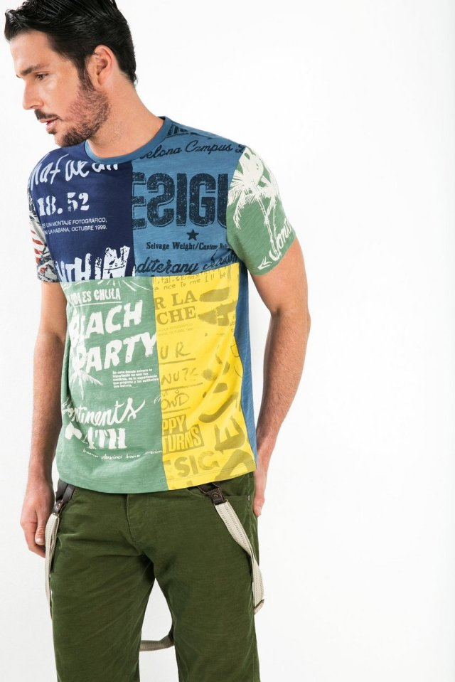 Desigual DECONSTRUCTED t-shirt. Fall-Winter 2015.