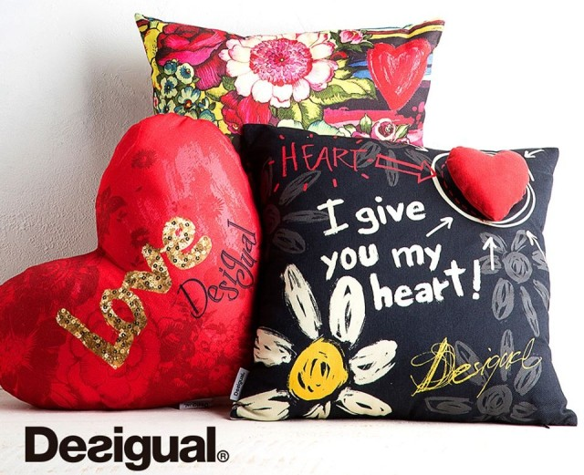 "We would like to have these Desigual pillows, but so far only have Desigual towels from the ""home collection."""