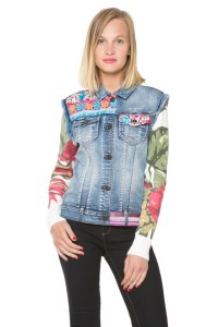 Desigual ETHNIC CARRY handmade jean jacket. $155.95. Spring-Summer 2016.