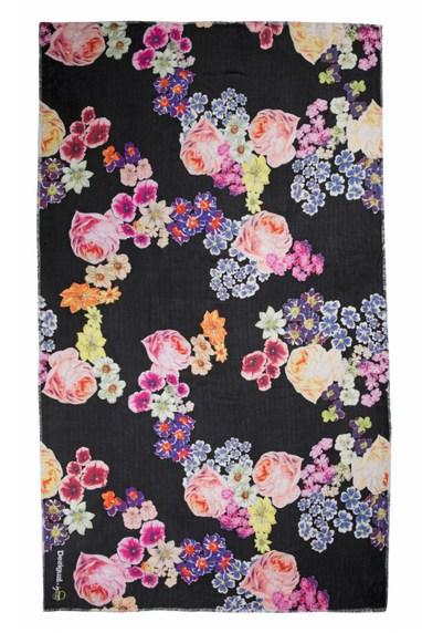 c442599a30d2 Desigual-Foulard-Black-Flower-Soft-scarf-design -by-Lacroix. 65.95.SS2016.61W5LA0 2000