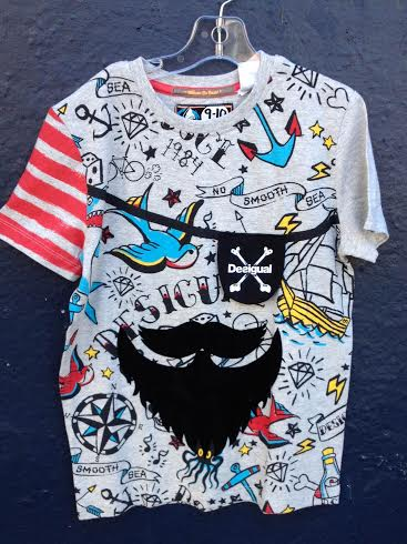 Desigual ENRIC kids pirate shirt. $49.95. Spring-Summer 2016.