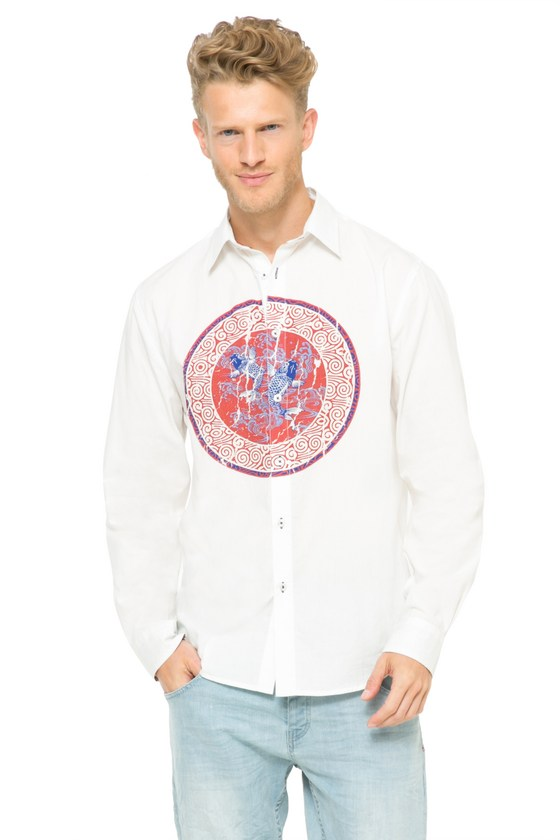 Desigual.JULIO.shirt.koi.design.$105.95.SS2016.61C12G4-1000