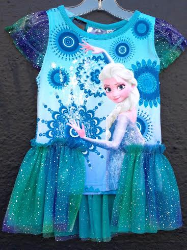 Desigual SNOWFLAKE T-shirt for girls with Disney FRozen princess.