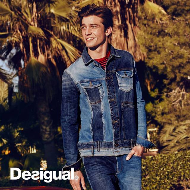 Desigual LOOK jean jacket mixes faded denim with new. $169.95. Spring-Summer 2016.
