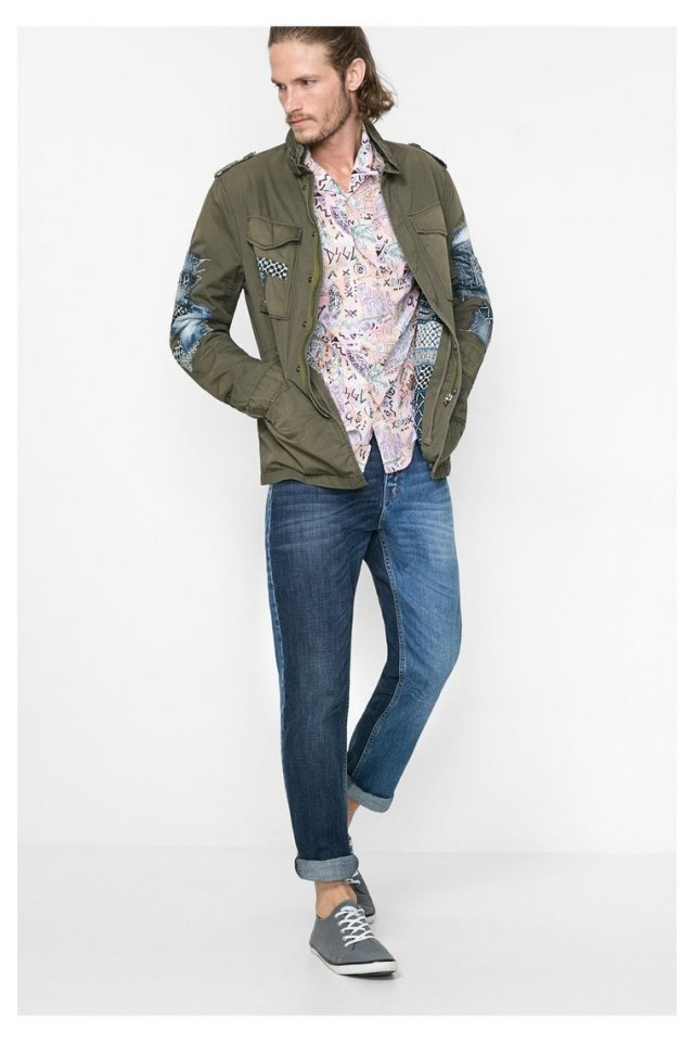 Desigual military green jacket for men called Raul. $239.95. Spring-Summer 2016.