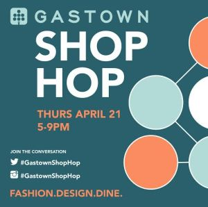 Angel is offering 20-50% off everything Thursday for Gastown Shop Hop, 5-9 p.m. April 21, 2016