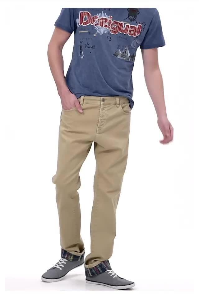 Desigual man LEO pants. $155.95. Spring-Summer 2016.