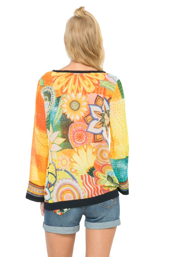 Desigual.MANDARINA.boho.blouse.back.embroidered.cuffs.$139.95.SS2016.61B23A3_7009