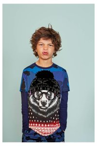Desigual SEBASTIAN T-shirt with bear. Fall-Winter 2016.
