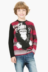 "Desigual ""Robert"" Funky Monkey T-shirt. $65.95. 67t36c8"