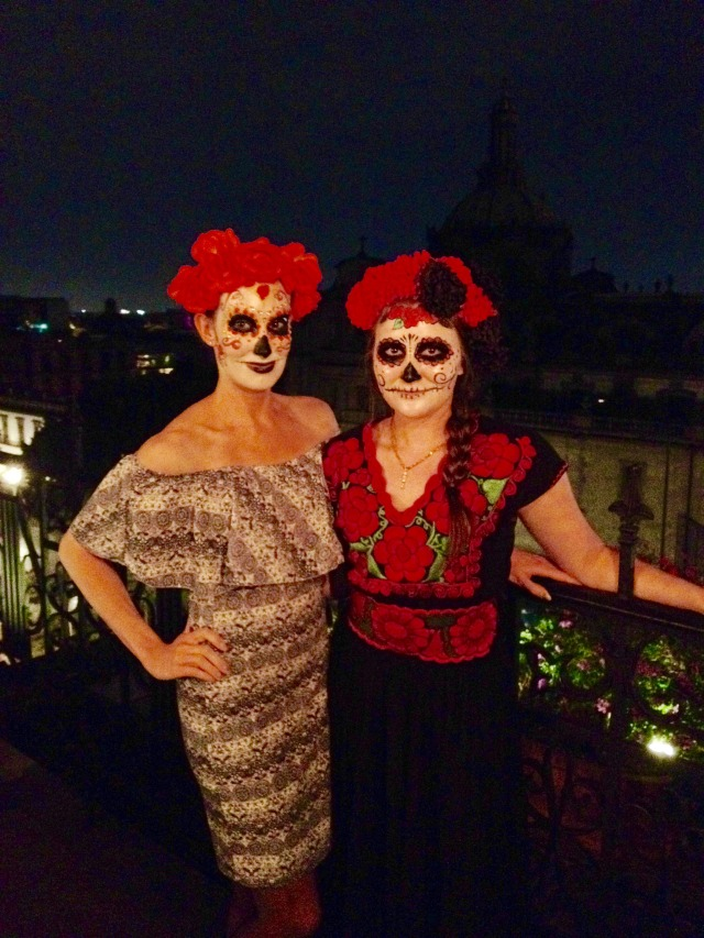 mexico-city-day-of-the-dead-rooftop-two-women