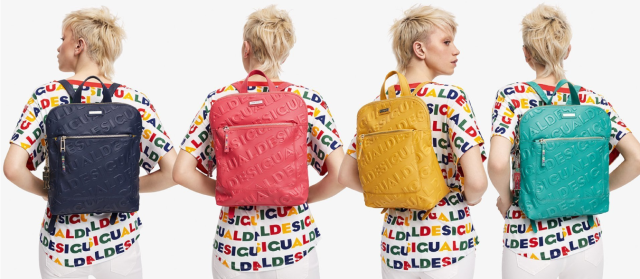 Desigual COLORAMA NANAIMO backpacks - Angel has three colours - yellow, red and navy blue