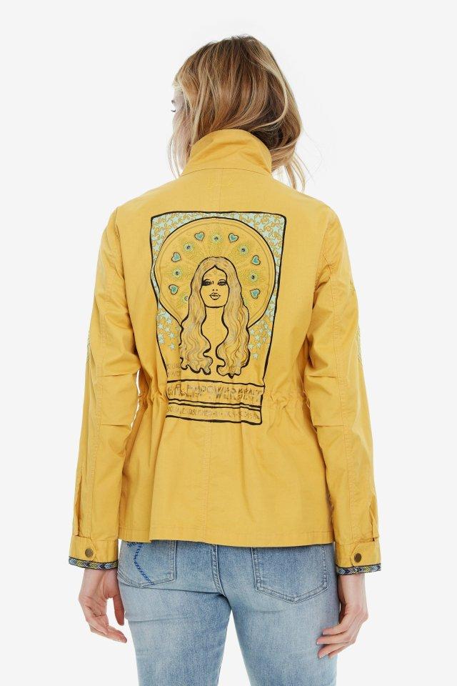 Desigual yellow cotton GINEBRA jacket. Vancouver, Canada