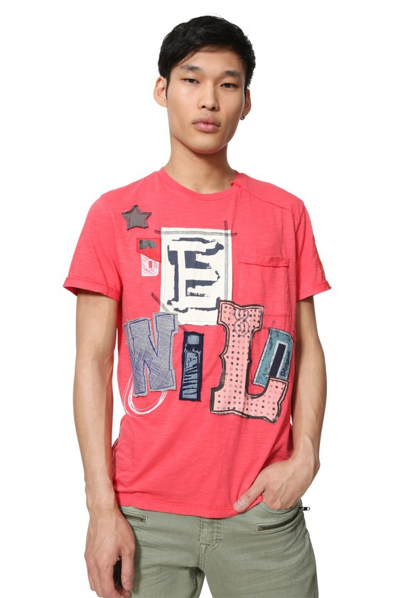 de Desigual camiseta Desigual Lolo algodón Lolo camiseta wXZXFxEq
