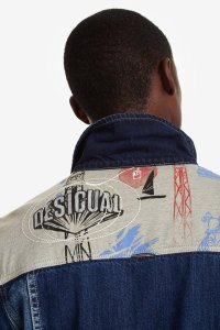 Desigual MARZO denim jacket. $255.95. A different denim jacket for men. Fall-Winter 2019 collection.