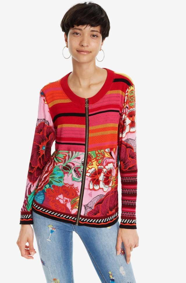 a08fdb7cb6 Desigual TOKIO jacket. $169.95. A lightweight zip-up long sleeve jacket  that is an explosion of colour. Spring-Summer 2019 collection.
