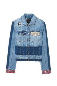 Desigual MARGUERITE Mickey Mouse denim jacket on sale.