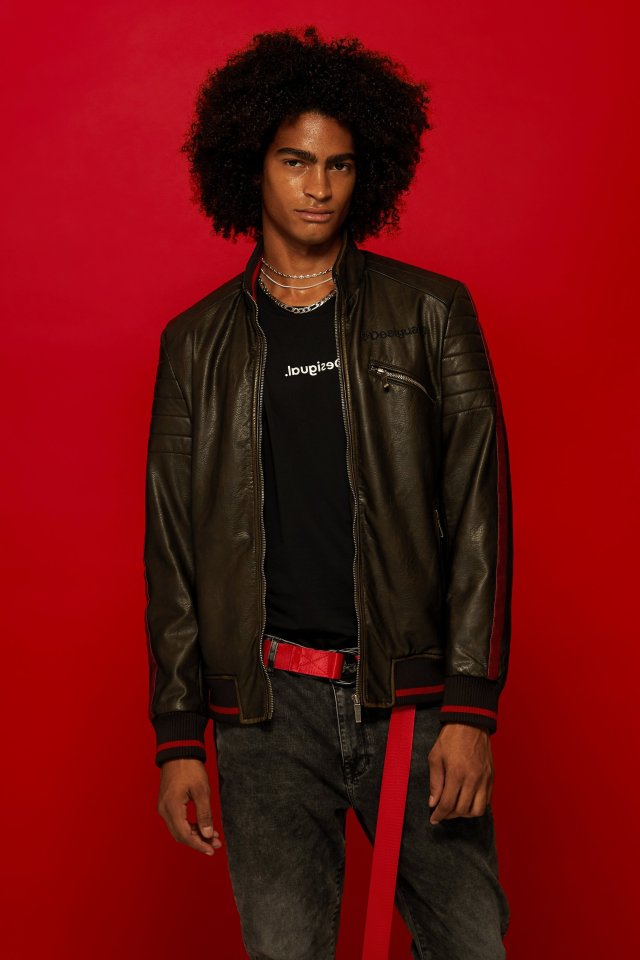 COMING SOON: Desigual ANTON jacket Fall-Winter 2019 Faux leather biker jacket