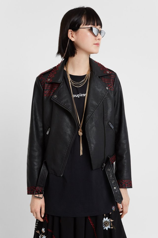 Desigual BEATING HEART biker jacket. Was $309.95, now $217. FW2019.