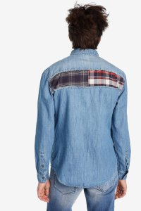 Desigual CAETANO denim patch shirt. $169.95. FW2019.