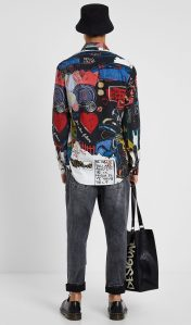 Desigual CHANTAL cotton shirt. $149.95. FW2019.