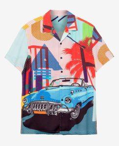 Desigual BERNARD CUBA RESORT shirt. $135.95. FW2019.