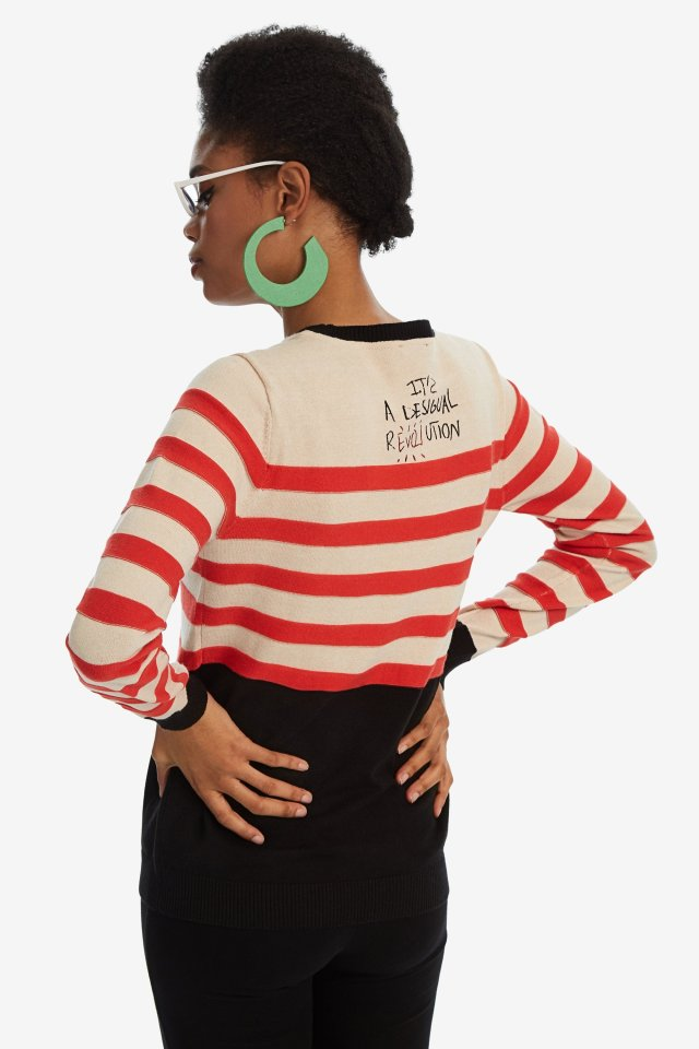 Want More Love Desigual DALLAS striped sweater FW2019.