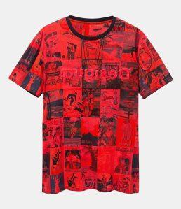 Desigual HAWAIIAN POSTCARD T-shirt. $105.95. FW2019.