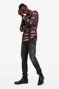 Desigual KEVIN arty tartan shirt