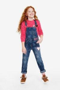 Desigual kids RUIZ heart overalls. FW2019.