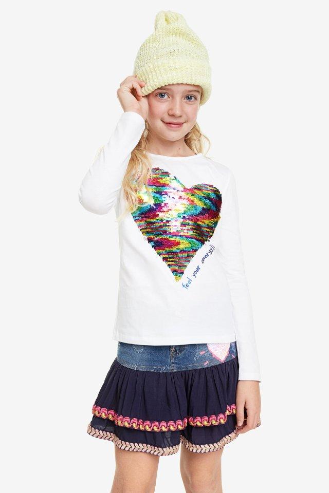 Desigual kids RUIZ heart overalls. $115.95. FW2019.