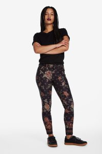 Desigual Speke black printed trousers