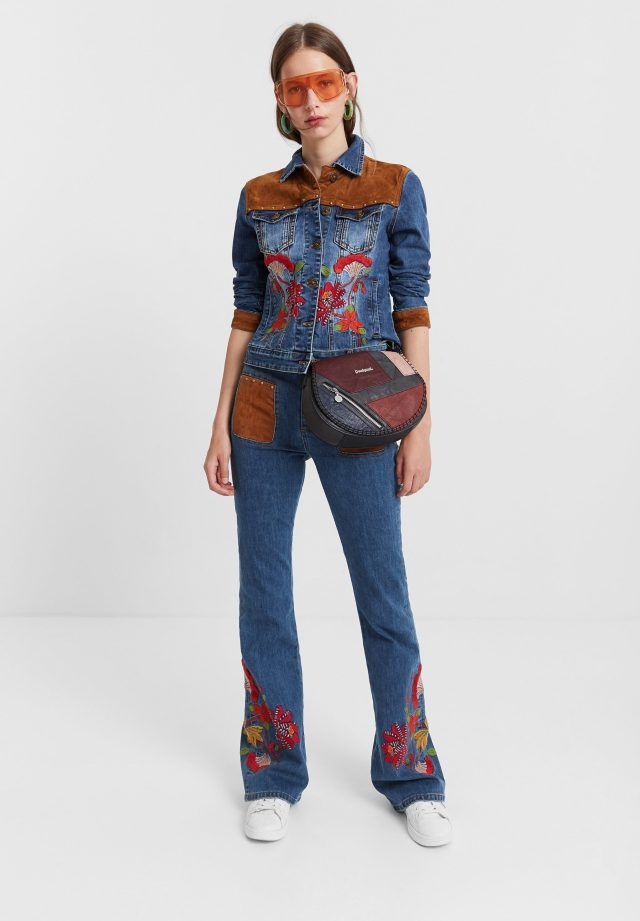 Desigual West Londo boho flared jeans